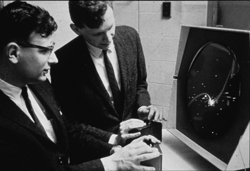 PDP-1-men playing-Dan Edwards-Peter Samson